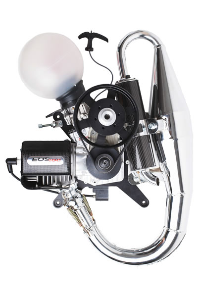 EOS 100 engine front
